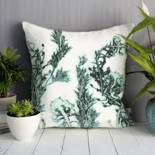 landscape white u0026 green sofa cushion country style