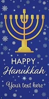 hanukkah banner 4 x 8 hanging vinyl hanukkah banner menorah graphic