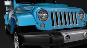 chief jeep color jeep wrangler unlimited chief jk 2017 3d model cgtrader