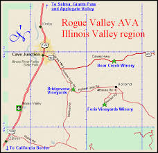 selma oregon map maps oregon wine regions touring the rogue valley appellation