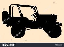 Jeep Silhouette Stock Vector 108909086 Shutterstock