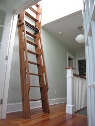 Library Ladders Antique Loft Ladder Hand Crafted Hybrid Loft Ship Ladder Made