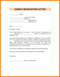 How To Write A Resignation Letter Template 7 Resignation Letter Sample Doc Personal Reason Handy Man Resume
