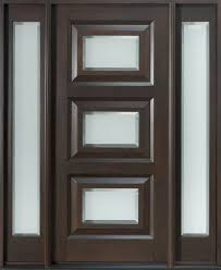 Contemporary Front Entrance Doors Front Door Custom Single With 2 Sidelites Solid Wood With