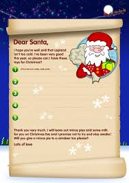free santa letters send a letter to santa with our template