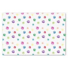 paw print tissue paper dog paw craft tissue paper zazzle ca