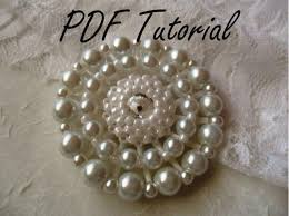 brooch bouquet tutorial marykate white pearl bridal brooch fabric flower brooch