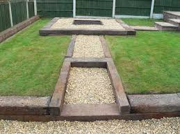 Railway Sleepers Garden Ideas Garden Designs Railway Sleeper Garden Designs Used