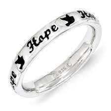 inspirational rings inspirational rings sterling silver enamel word ring only