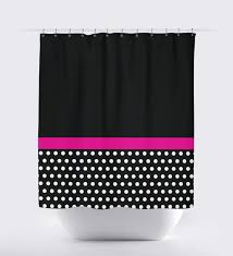 Polka Dot Curtains Appealing Pink White Polka Dot Shower Curtain U Ideas Image For
