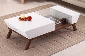 modern end table with drawer wide designs of white coffee table with storage homesfeed