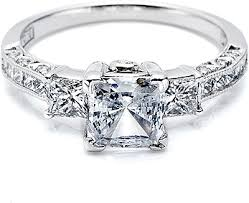 rings engagement tacori princess cut diamond engagement ring ht2264
