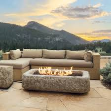 Outdoor Stone Firepits by Fire Pits Stone And Regular Kits Gas Wood Powered Stonewood