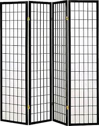 Screen Room Divider Legacy Decor 4 Panel Shoji Screen Room Divider Black