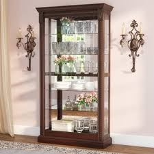 wood and glass cabinet display cabinets you ll love wayfair