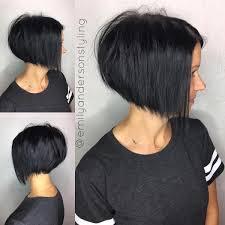 one side stack sassy bob bllack hair 30 beautiful and classy graduated bob haircuts black bob bobs