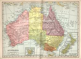 Map Of Oz Vintage Map Of Australia London Map
