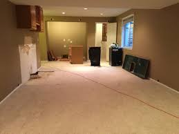 Carpet Tiles In Basement Ripping Out The Wet Bar In The Basement U0026 Prepping For Carpet