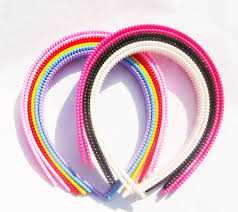 plastic headbands 12pcs plastic headbands 3 4 with teeth mix color tone craft blank