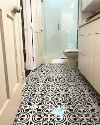 bathroom stencil ideas a diy stenciled linoleum bathroom floor the augusta tile