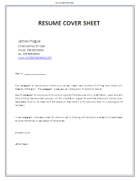 cover page resume template 28 images exles of cover letter for