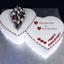 wedding wishes editing heart shape anniversary cake wishes image with name editing