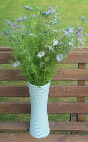 Duck Egg Blue Vase Flowers By Shamini An Intriguing Crush