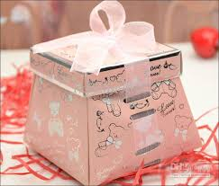 wedding favor containers 081308 new design wedding box with ribbon candy box for wedding
