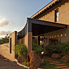 Modern Pergola Plans by Architecture Detail Earthy Exterior With Stucco Exterior And