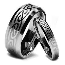 wedding bands sets his and matching celtic knot wedding band sets his and hers brushed celtic knot