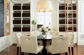 Captivating Contemporary Round Dining Room Tables Top Round - White leather dining room set