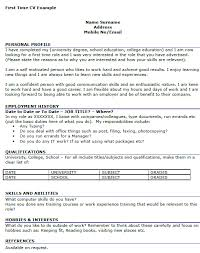 first time job resume template first time job resume examples