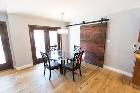 red grey hemlock modern contemporary sliding barn door porter