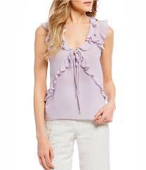 sleeveless ruffle blouse juniors shirts blouses dillards