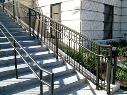contemporary stair railing kits modern metal shapes rod iron