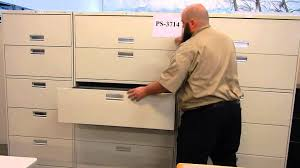 Hon 42 Lateral File Cabinet by Auction 1363539 Lot Of 3 Hon 5 Drawer Lateral File Cabine Youtube