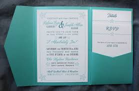 teal wedding invitations turquoise teal modern poster style pocketfolds emdotzee