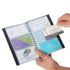 leather 120 cards business name id credit card holder book