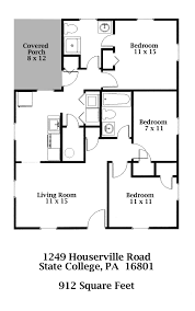 Floor Plans For 3 Bedroom Houses 1249 Houserville Road State College Pa 16801 Park Forest