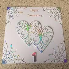 handmade paper wedding anniversary card happy 1st wedding