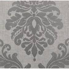 beacon house 56 sq ft sebastion grey damask wallpaper 450 67362