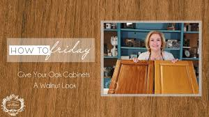 how to get hair dye stains cabinets how to make your oak cabinets look like walnut using gel stain and our new matte sealer