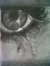 teardrops pencil drawing i t