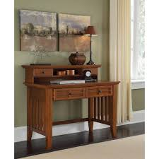 Student Desk With Hutch Arts Crafts Cottage Oak Student Desk And Hutch Homestyles