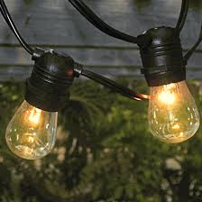Outside Patio String Lights Outdoor Patio String Lights 54 Commercial Black
