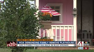 Action Awning Blue Springs Hoa Denies Child U0027s Playhouse Says It Violates U0027no