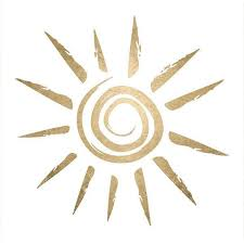 spiral sun with tribal rays tattoo design