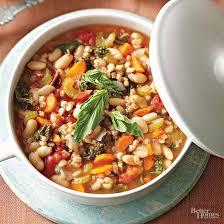 kale u0026 cannellini stew with farro