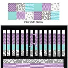Purple And Teal Crib Bedding Purple And Turquoise Nursery Bedding Custom Baby Bedding Aqua