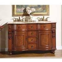 50 inch double sink vanity 52 inch small double sink vanity with baltic brown countertop
